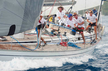 Class 7 winners Northern Child, Christian & Lucy Reynolds Swan 51 Credit: ©Todd VanSickle/BVI Spring Regatta & Sailing Festival