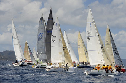 Great racing for all classes in the 41st BVI Spring Regatta Credit: ©Todd VanSickle/BVI Spring Regatta & Sailing Festival