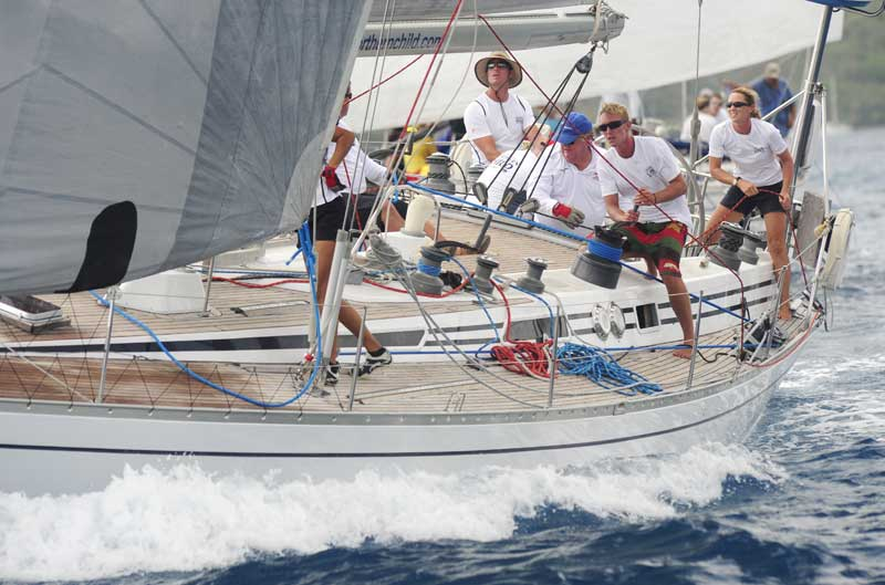 Christian and Lucy Reynolds' Swan 51 Northern Child (GBR) won 1st in class in the 2012 BVI Spring Regatta and the Swan Trophy Credit: Todd van Sickle